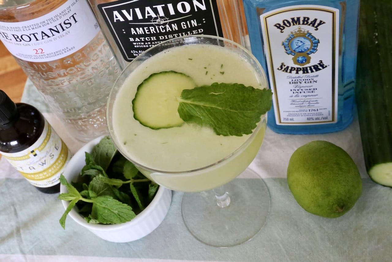 Eastside Cocktail Fresh Mint Lime Cucumber Gin Recipe