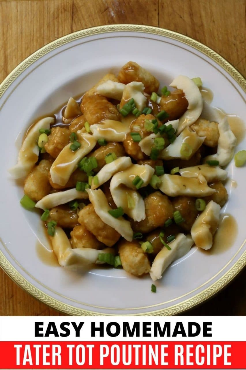 Save our easy baked McCain Tater Tot Poutine recipe to Pinterest!