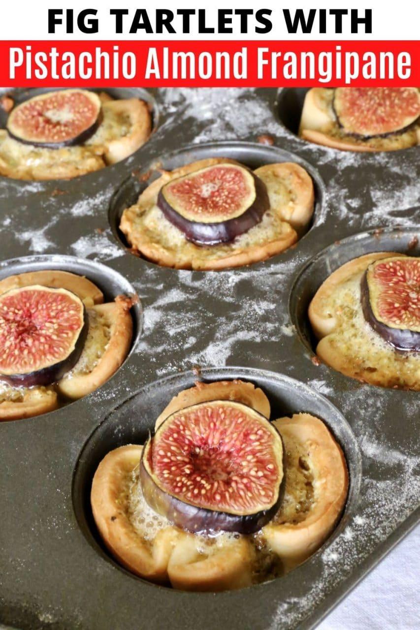 Save our Fresh Fig Frangipane Pistachio Tartlets recipe to Pinterest!