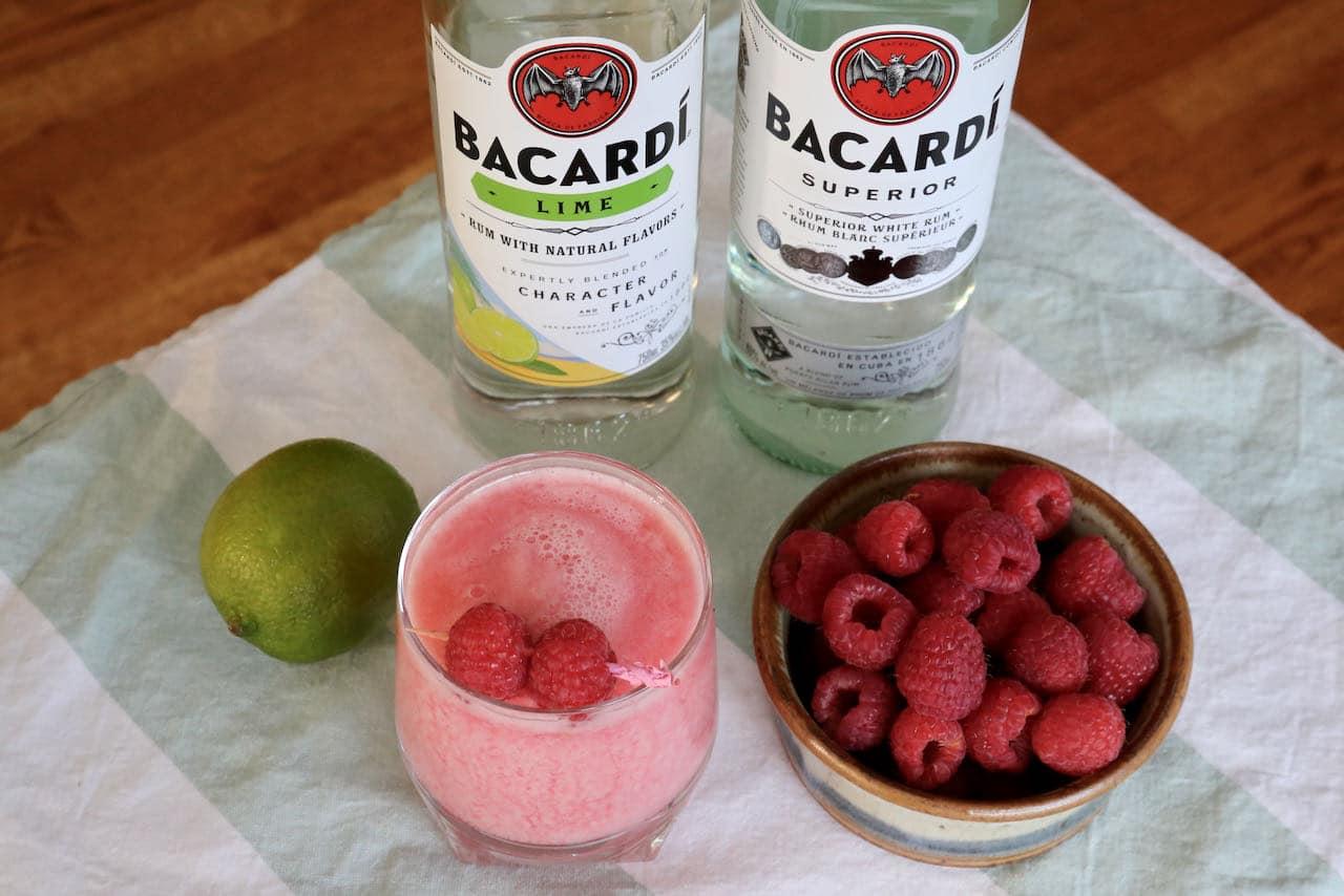 Our Raspberry Daiquiri recipe is a rift on the classic Cuban rum cocktail.