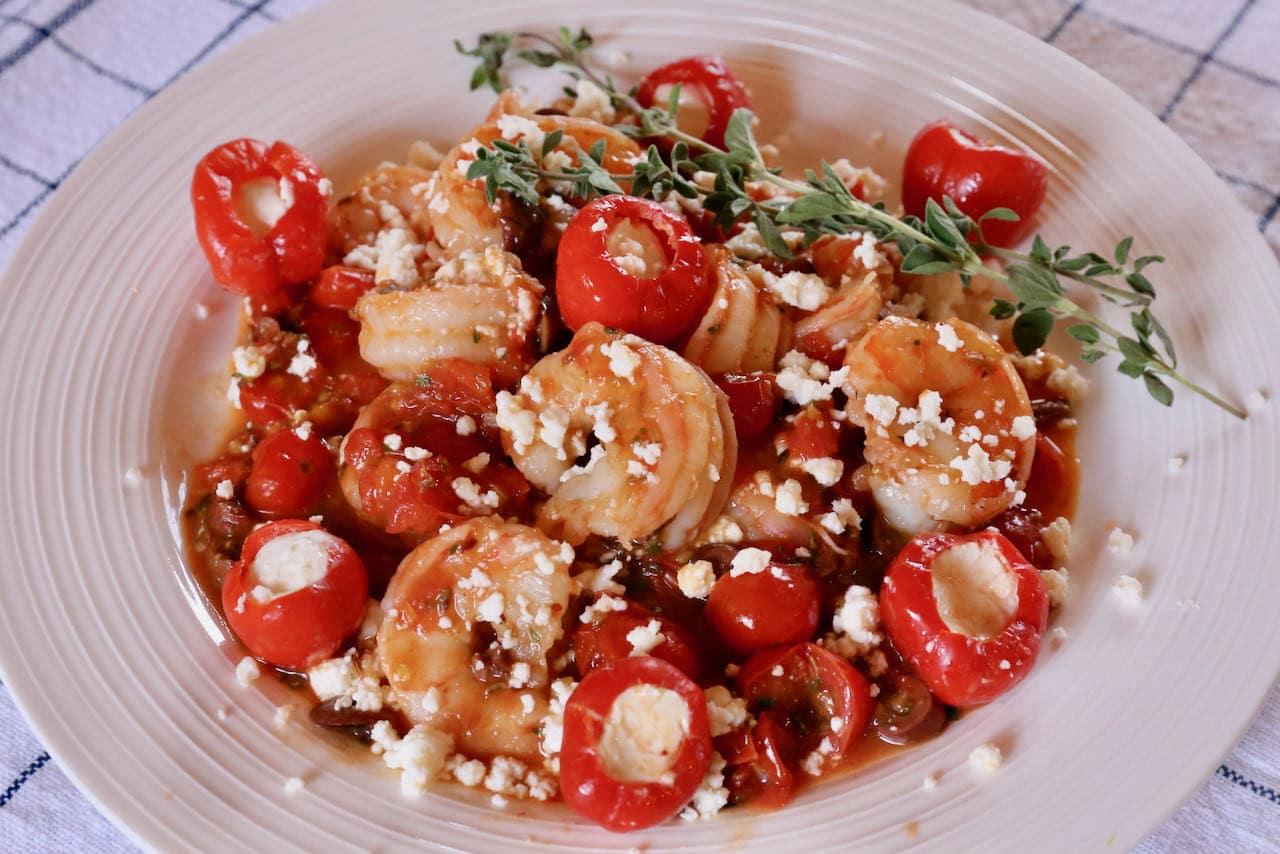 Garides Saganaki Sizzling Greek Feta Shrimp Recipe