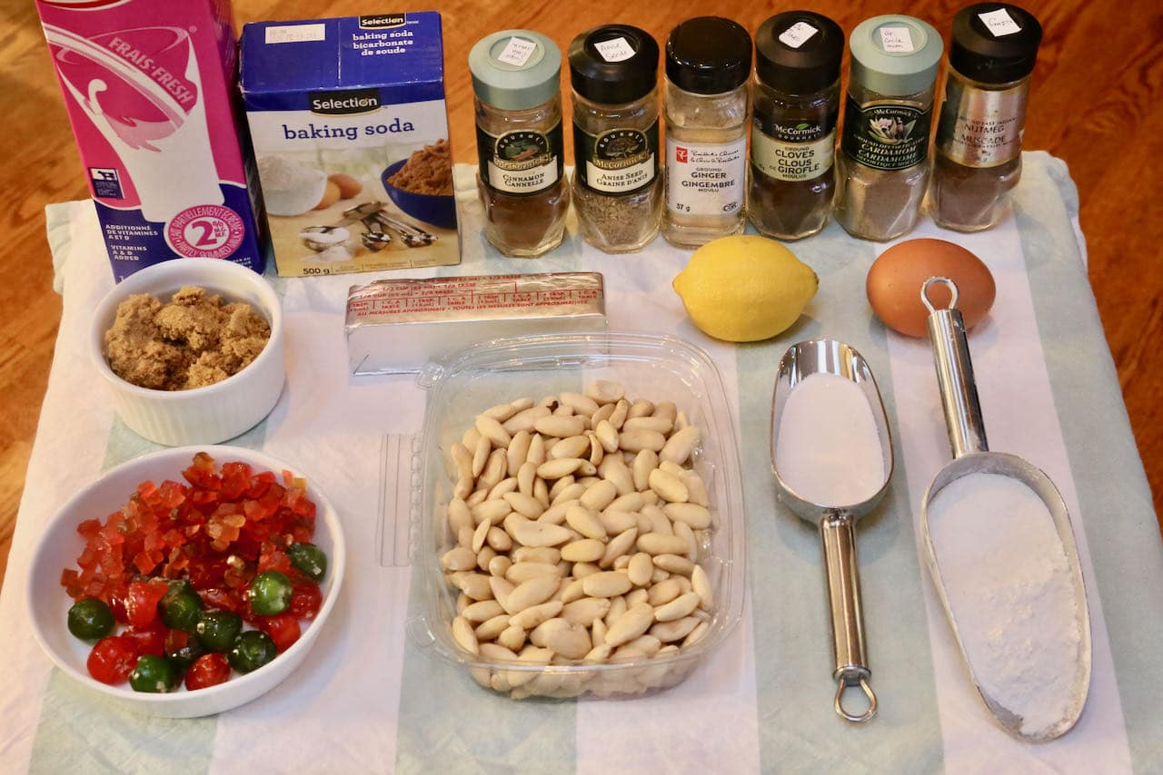 Ingredients you'll need to make our Gevulde Speculaas recipe.