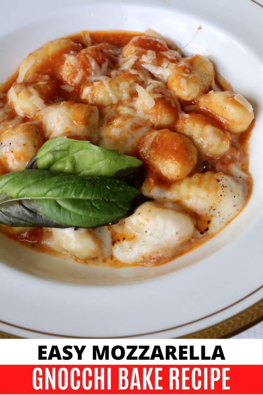 Save our Caprese Gnocchi Casserole recipe to Pinterest!