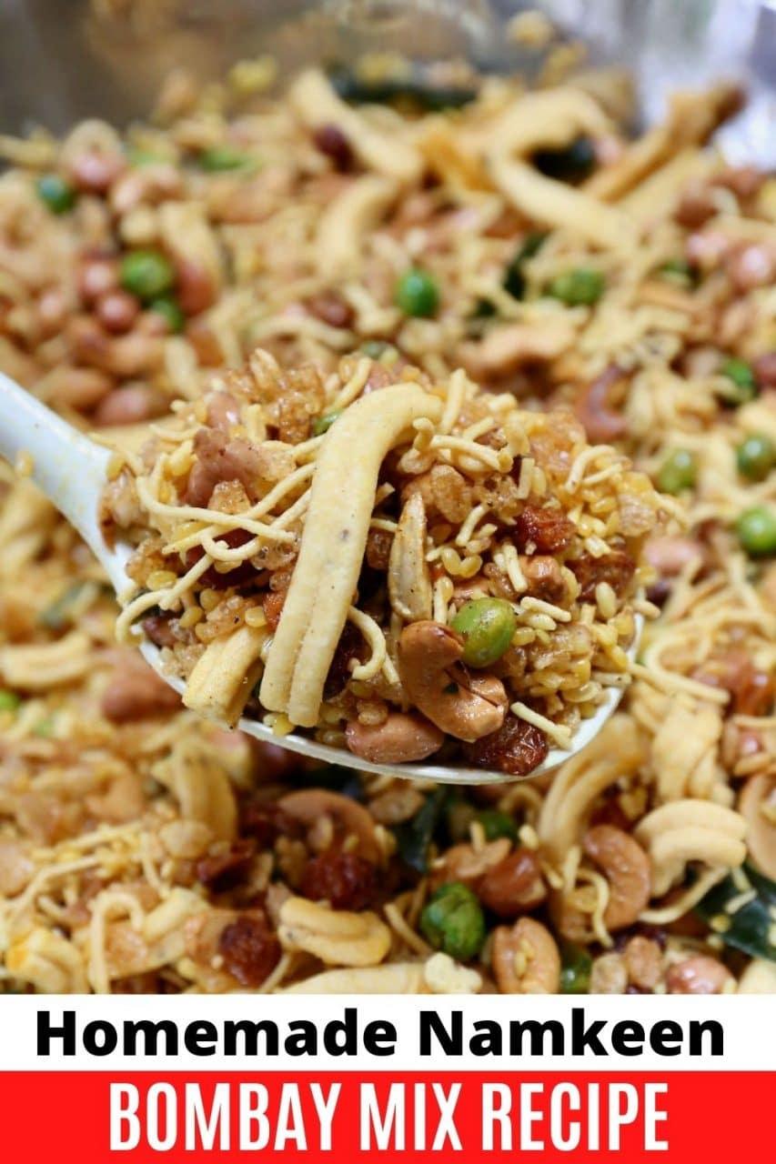 Save our Chivda Chanachur Namkeen Bombay Mixture recipe to Pinterest!