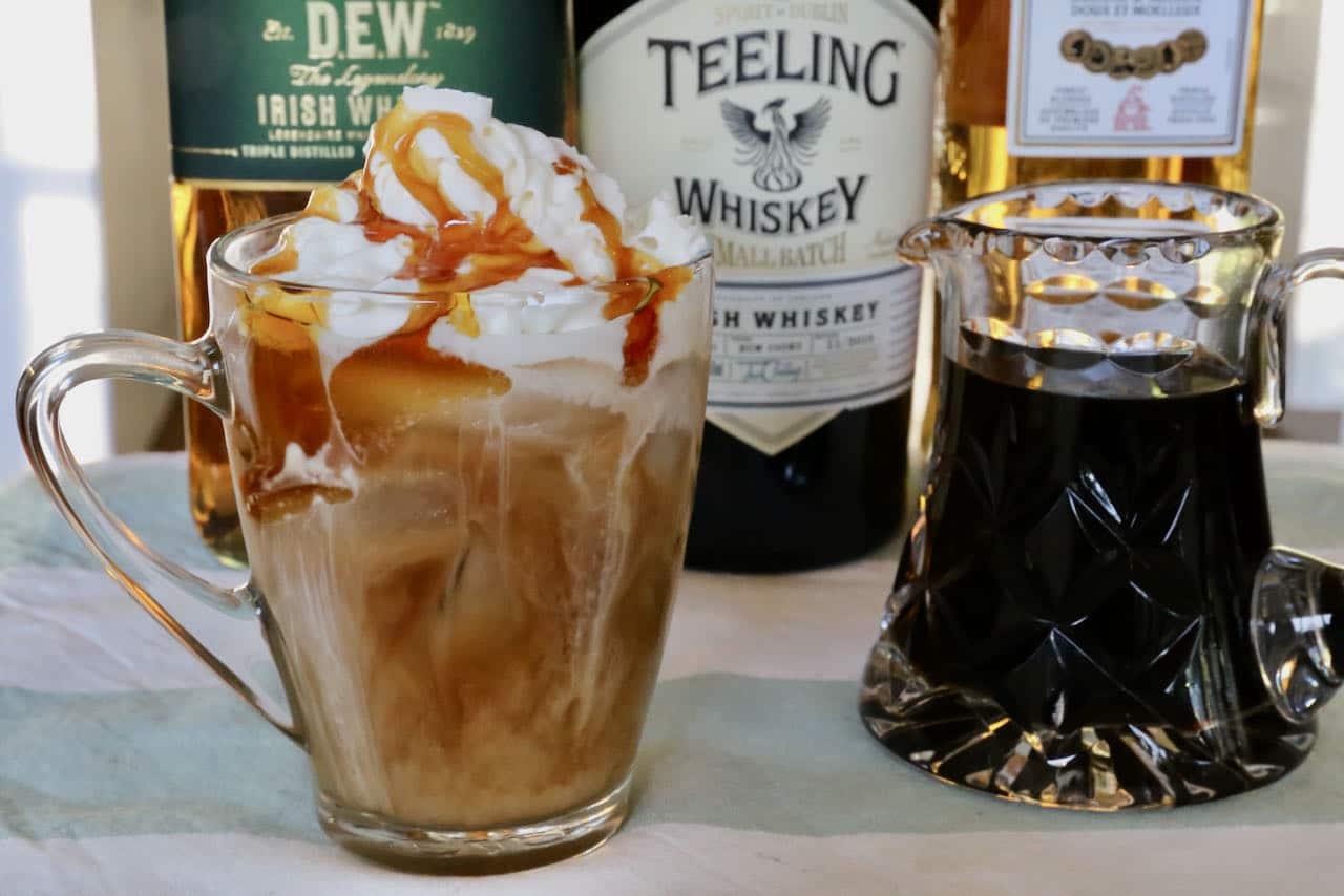 Iced Irish Coffee Cocktail Drink Recipe