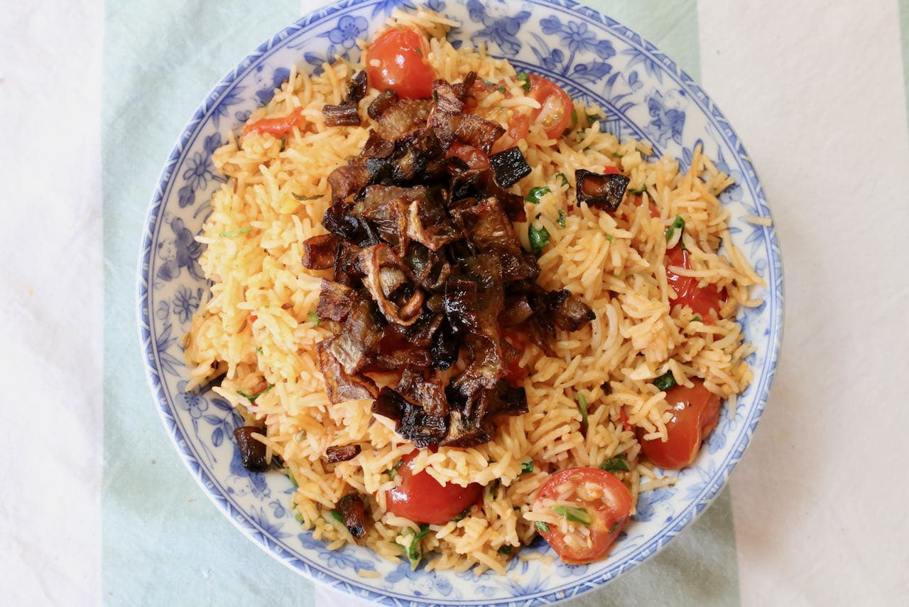 Now you're an expert on how to cook homemade Indian Tomato Biryani!