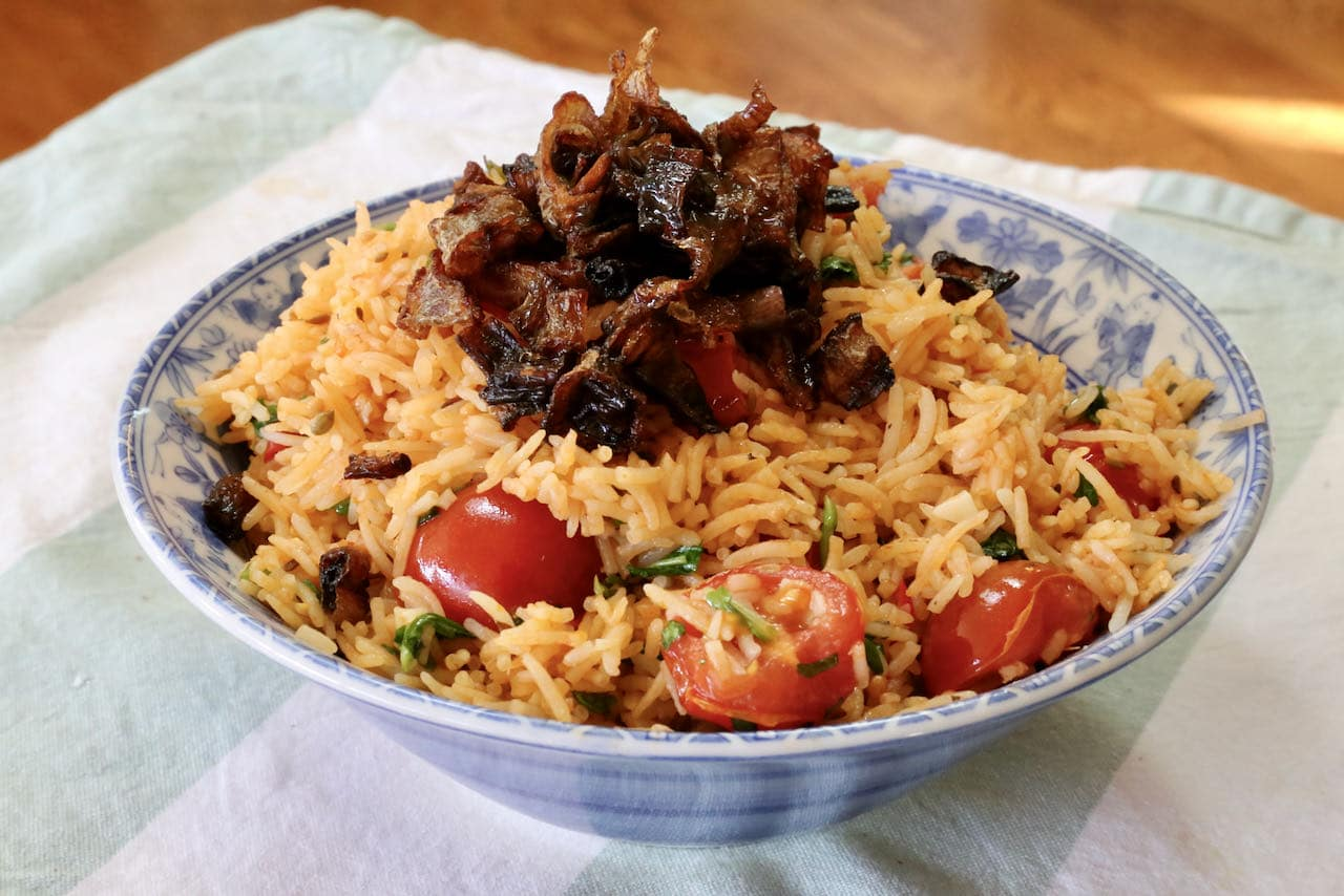 Vegan One Pot Indian Thakkali Tomato Biryani Recipe