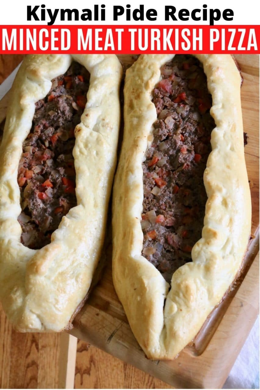 Save our Kiymali Pide Spiced Minced Meat Turkish Pizza recipe to Pinterest!