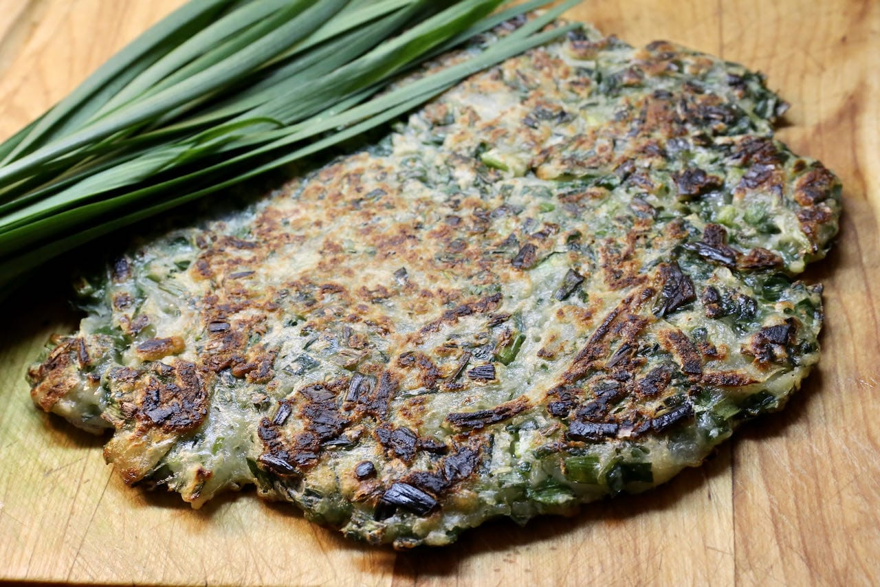 Chive Pancakes are an easy, delicious and affordable snack to cook at home.