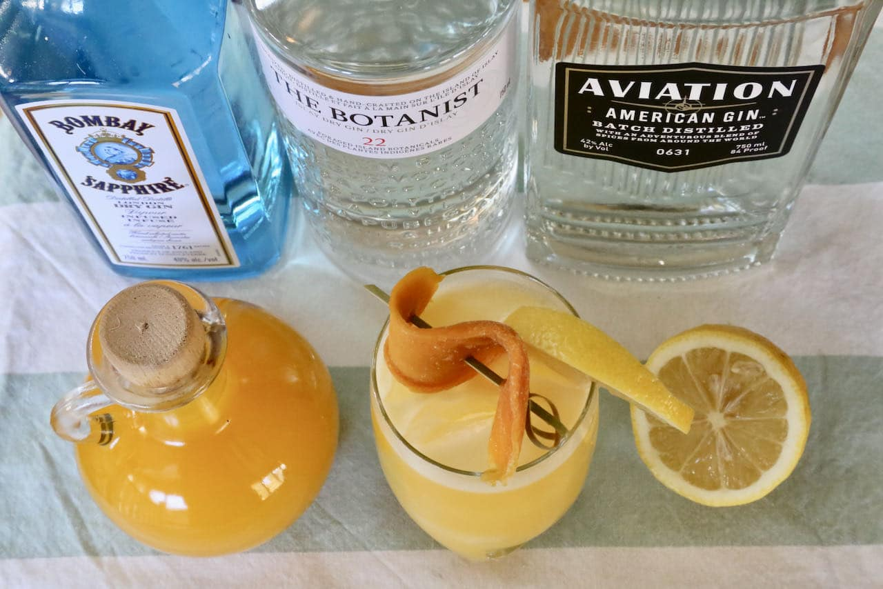 Serve our Gin and Mango Juice Cocktail in a Collins glass.
