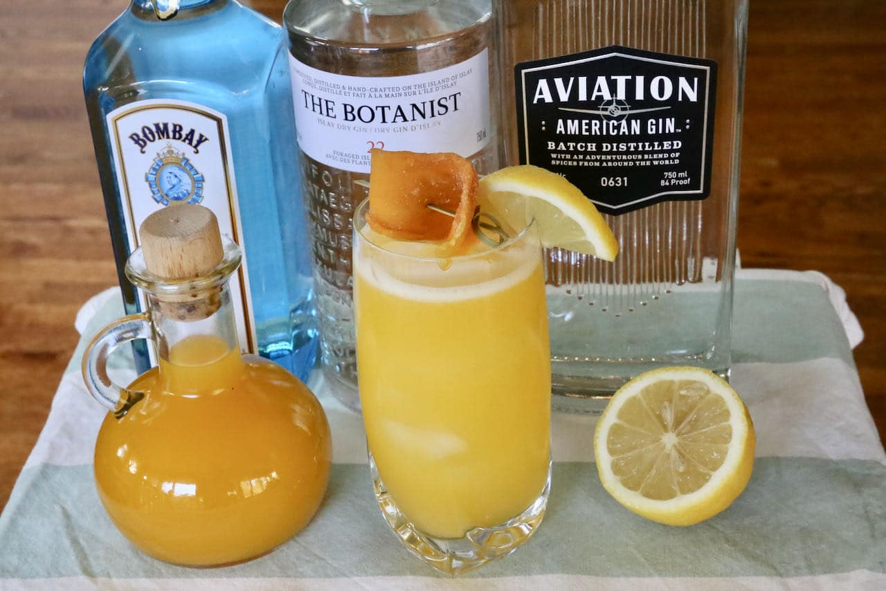 Mango Gin Collins Cocktail Recipe