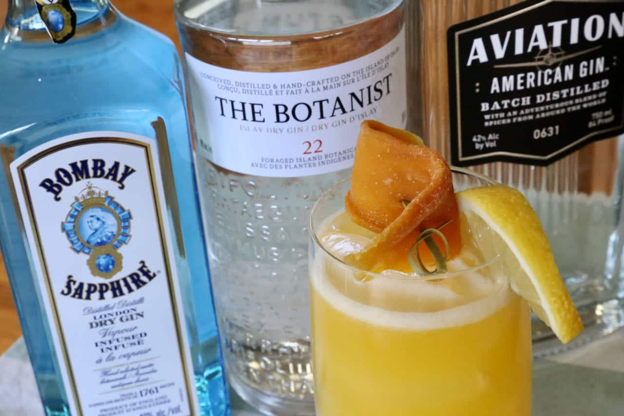 We suggest using your favourite premium gin when preparing this easy Mango Gin Cocktail.