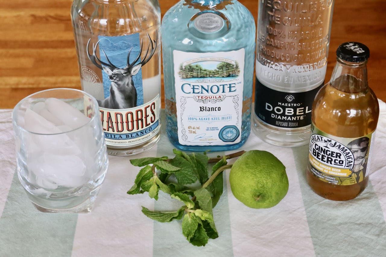 Mexican Mule ingredients.