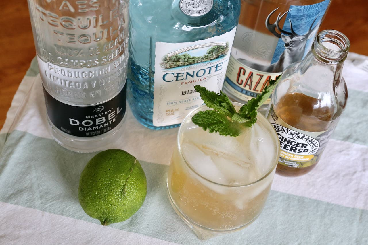 Use your favourite premium tequila when making this easy homemade Mexican Mule.