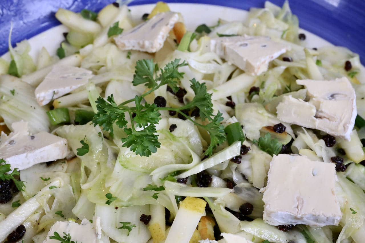 We love serving Fennel Pear Salad in the Fall or Winter with a Sunday roast.