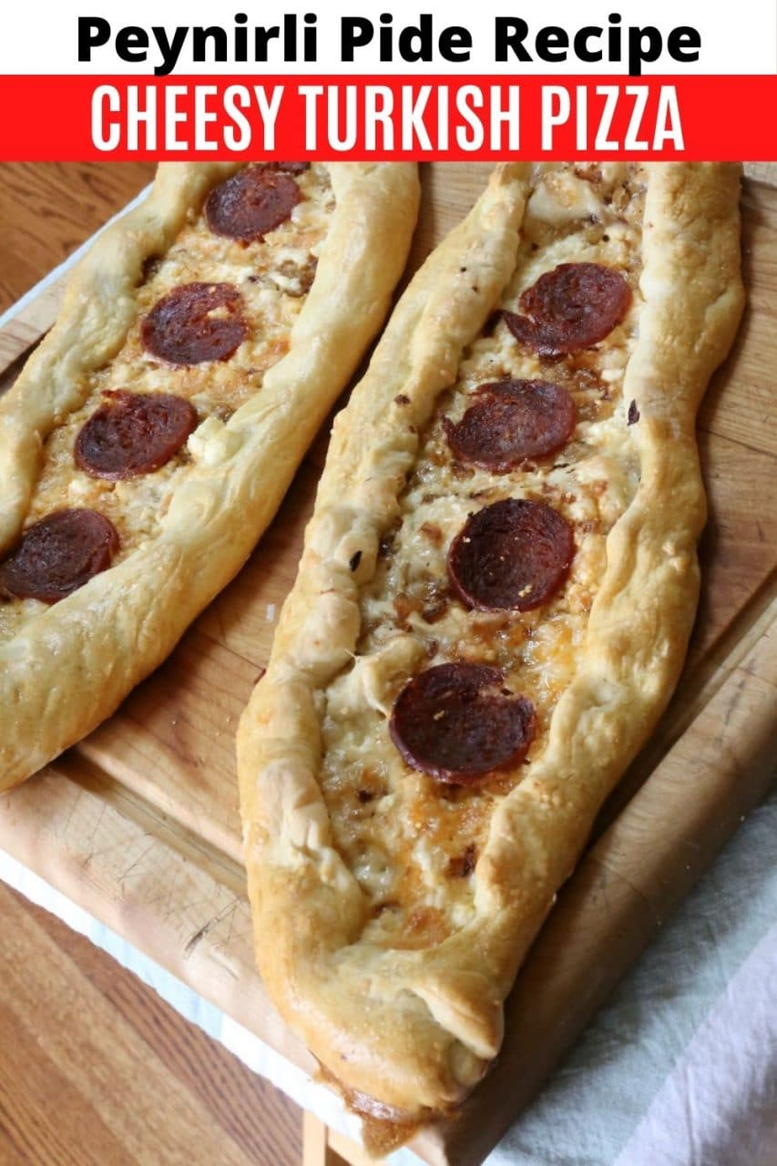 Save our traditional Peynirli Pide recipe to Pinterest!