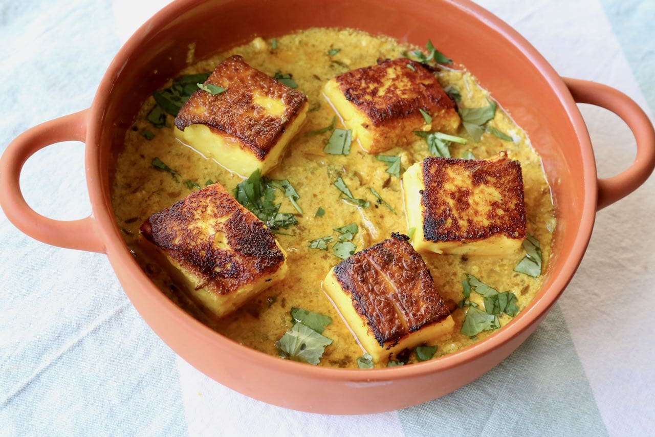 Serve Pitod Ki Sabji at an Indian-themed dinner party for a crowd.