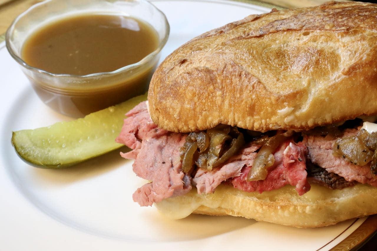 Easy Prime Rib French Dip Sandwich Recipe
