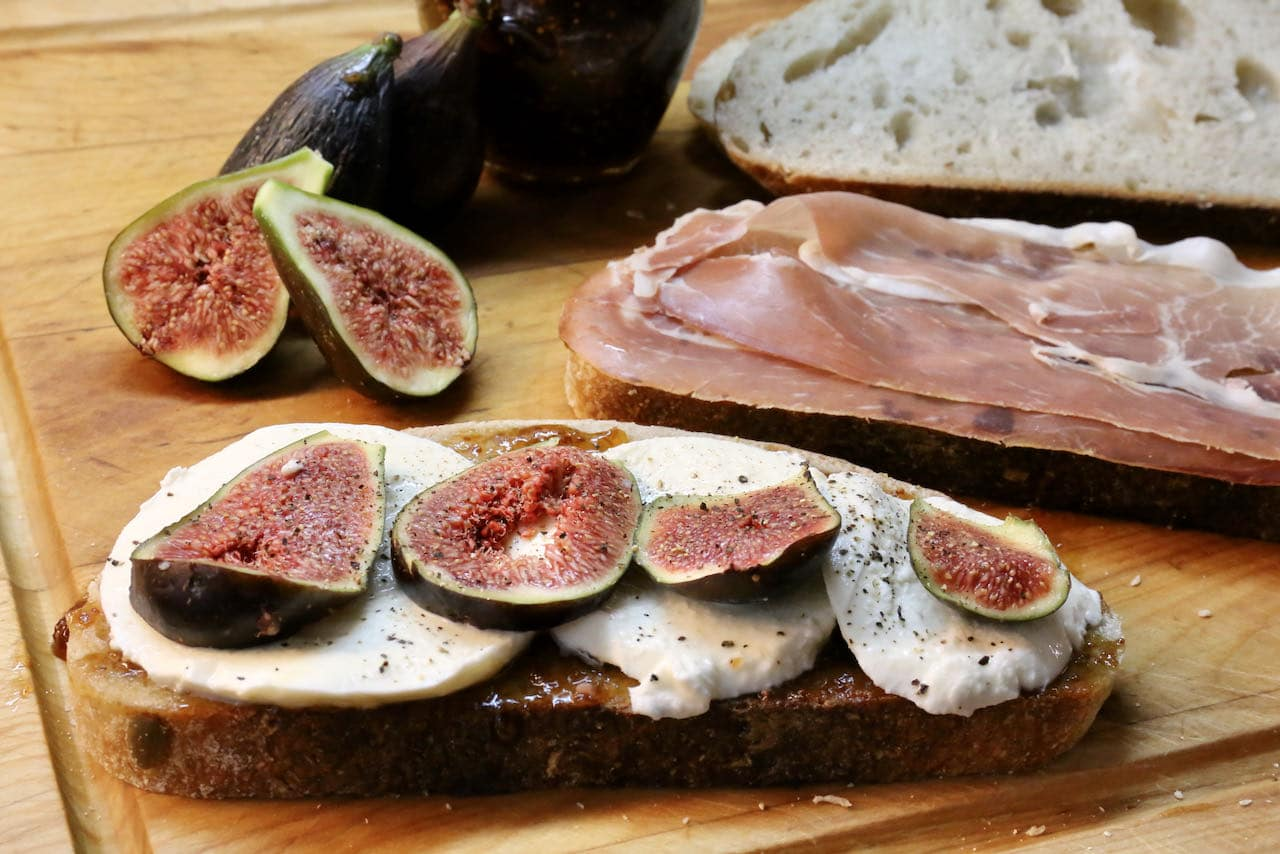 Fresh Fig Prosciutto Grilled Cheese Sandwich Recipe