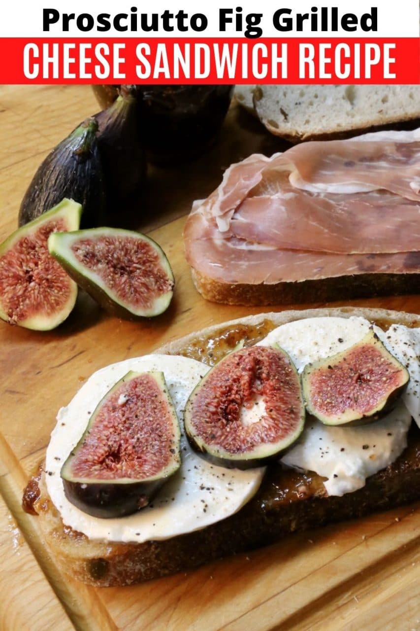 Save our Fresh Fig Prosciutto Grilled Cheese Sandwich recipe to Pinterest!