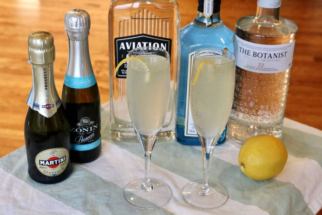 Italian Prosecco and Gin Cocktail Drink Recipe