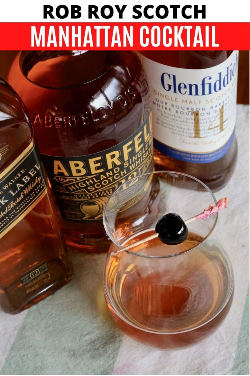Save our Perfect Rob Roy Scotch Manhattan Cocktail recipe to Pinterest!