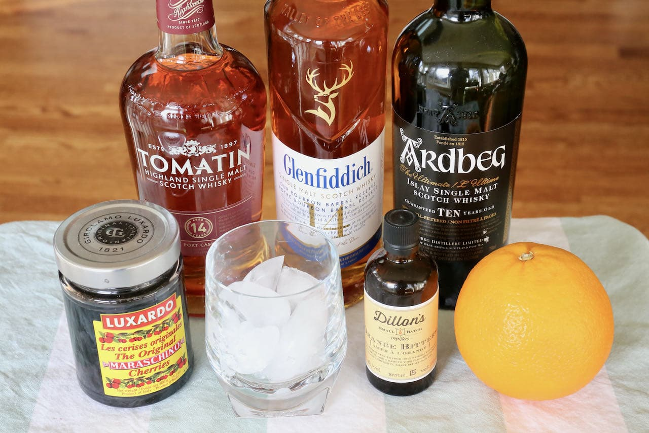 Scotch Old Fashioned ingredients.