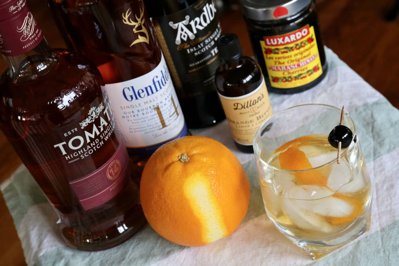 Use your favourite premium Scottish whisky when preparing a homemade Scotch Old Fashioned.