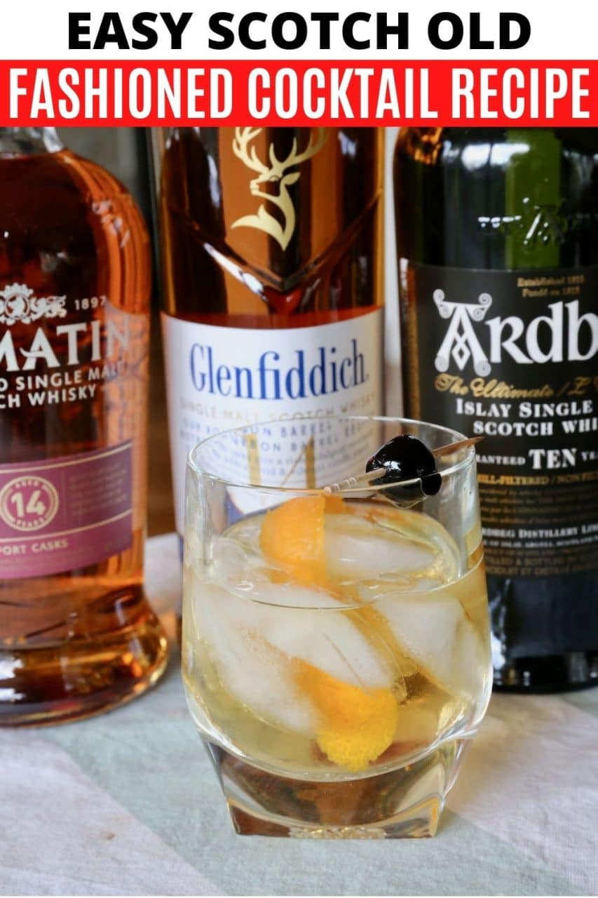 Save our traditional Scotch Old Fashioned recipe to Pinterest!