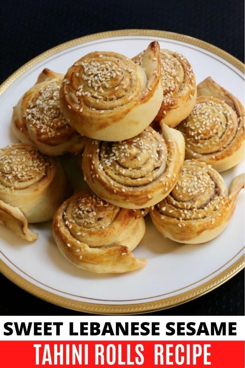 Save our Sesame Tahini Rolls recipe to Pinterest!