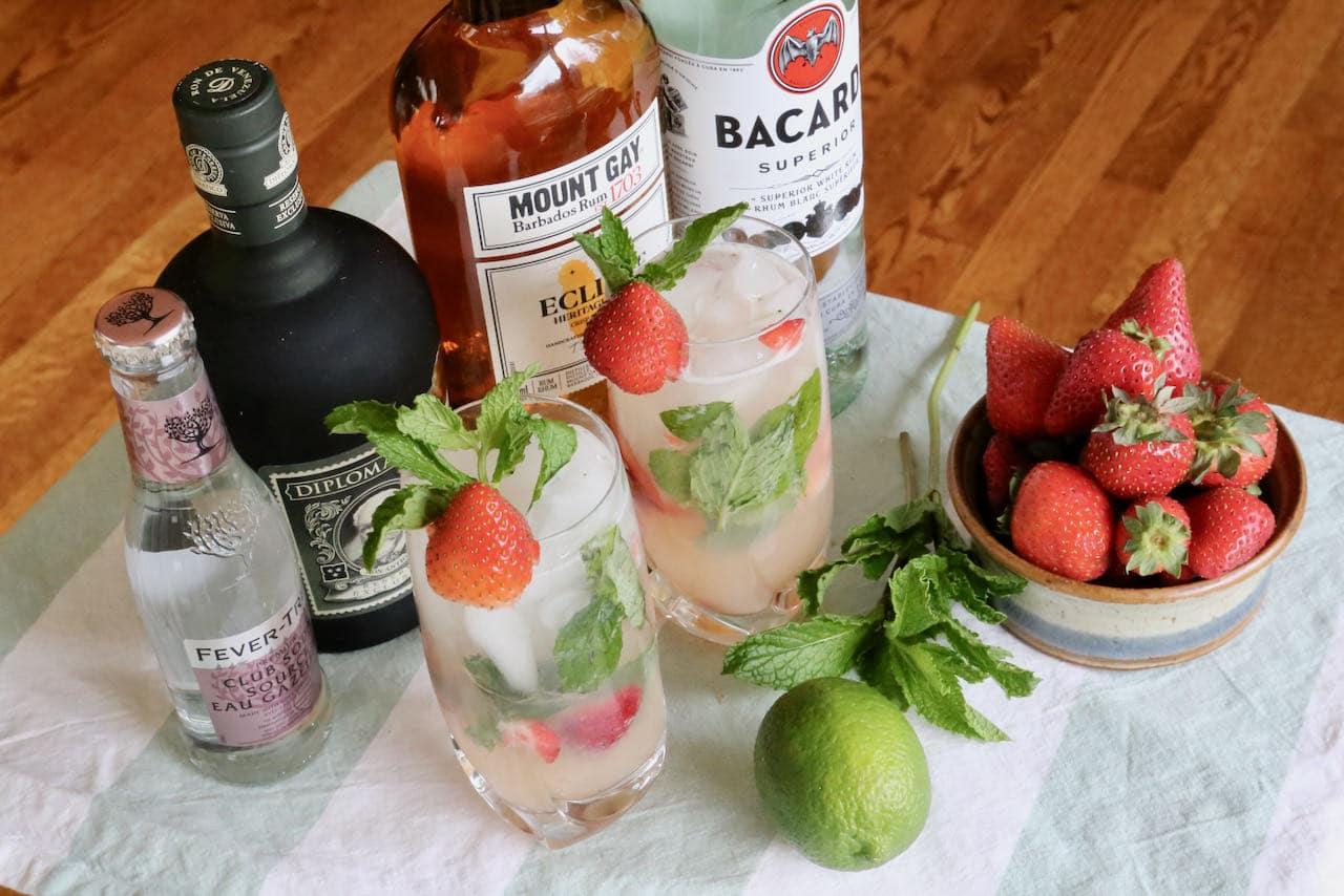 Fresh Strawberry Mojito Cocktail Recipe