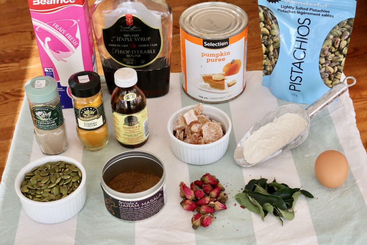 Indian Cake recipe ingredients.