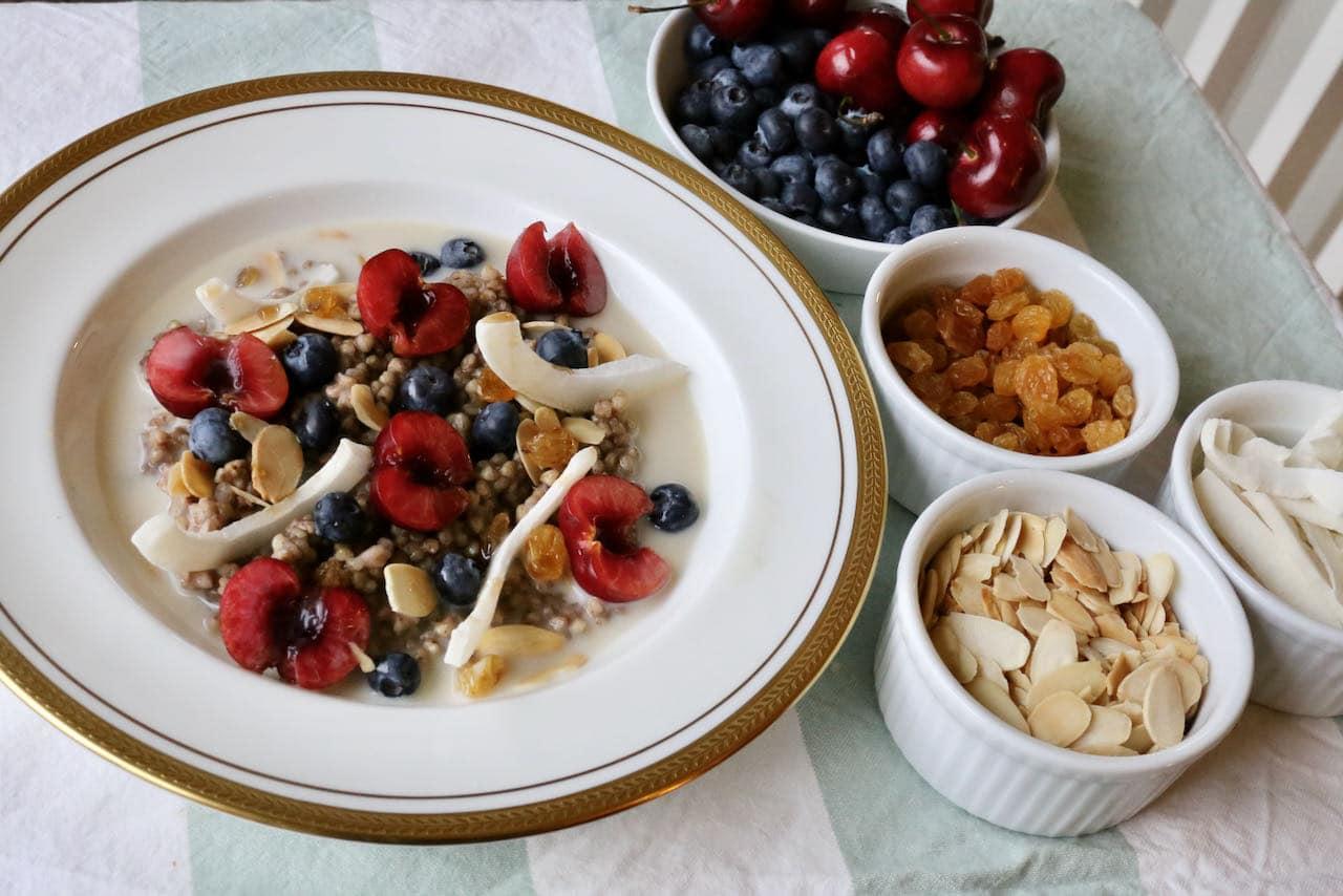 Healthy Buckwheat Porridge is a quick & easy breakfast or brunch idea.
