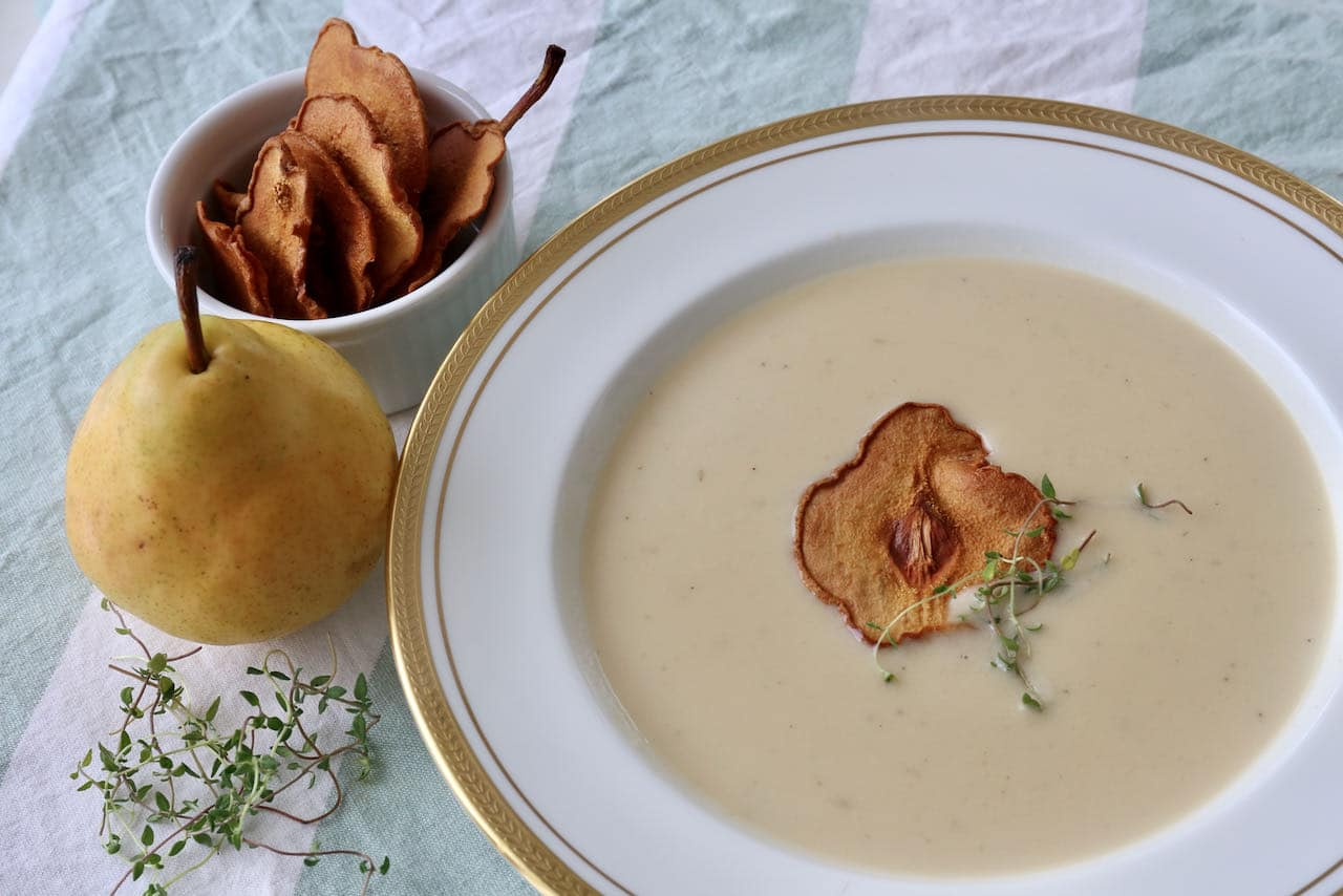 Creamy Vegetarian Parsnip and Pear Soup Recipe