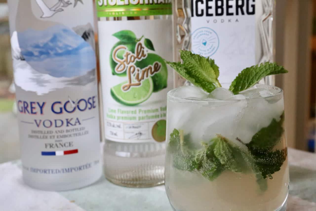 Easy Mint Lime Vodka Mojito Cocktail Recipe