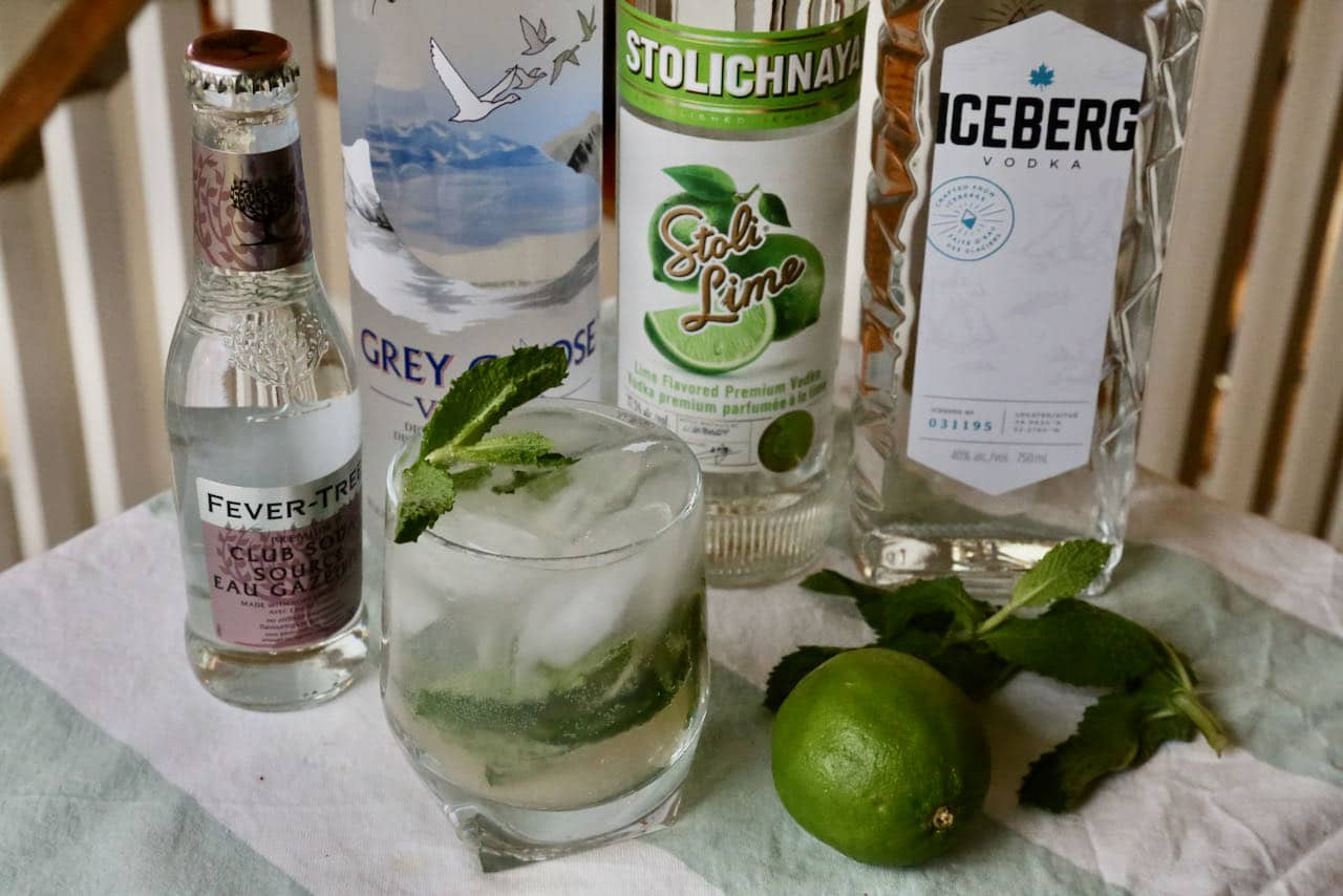 Our Vodka Mojito is a rift on the classic Cuban highball cocktail.