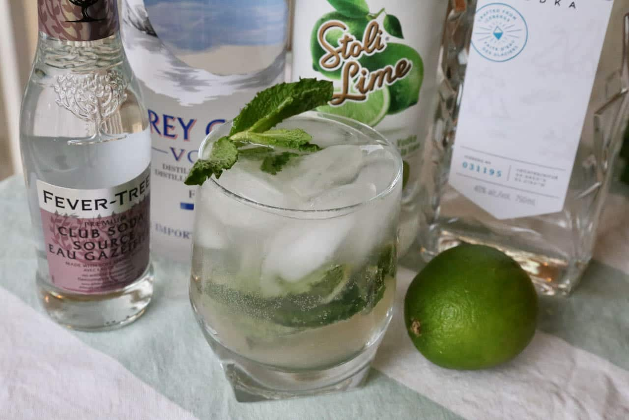 Our homemade Vodka Mojito is a refreshing drink to enjoy on a hot summer day.