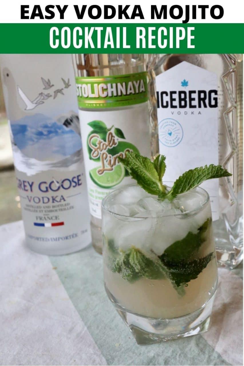 Save our Vodka Mojito Cocktail recipe to Pinterest!