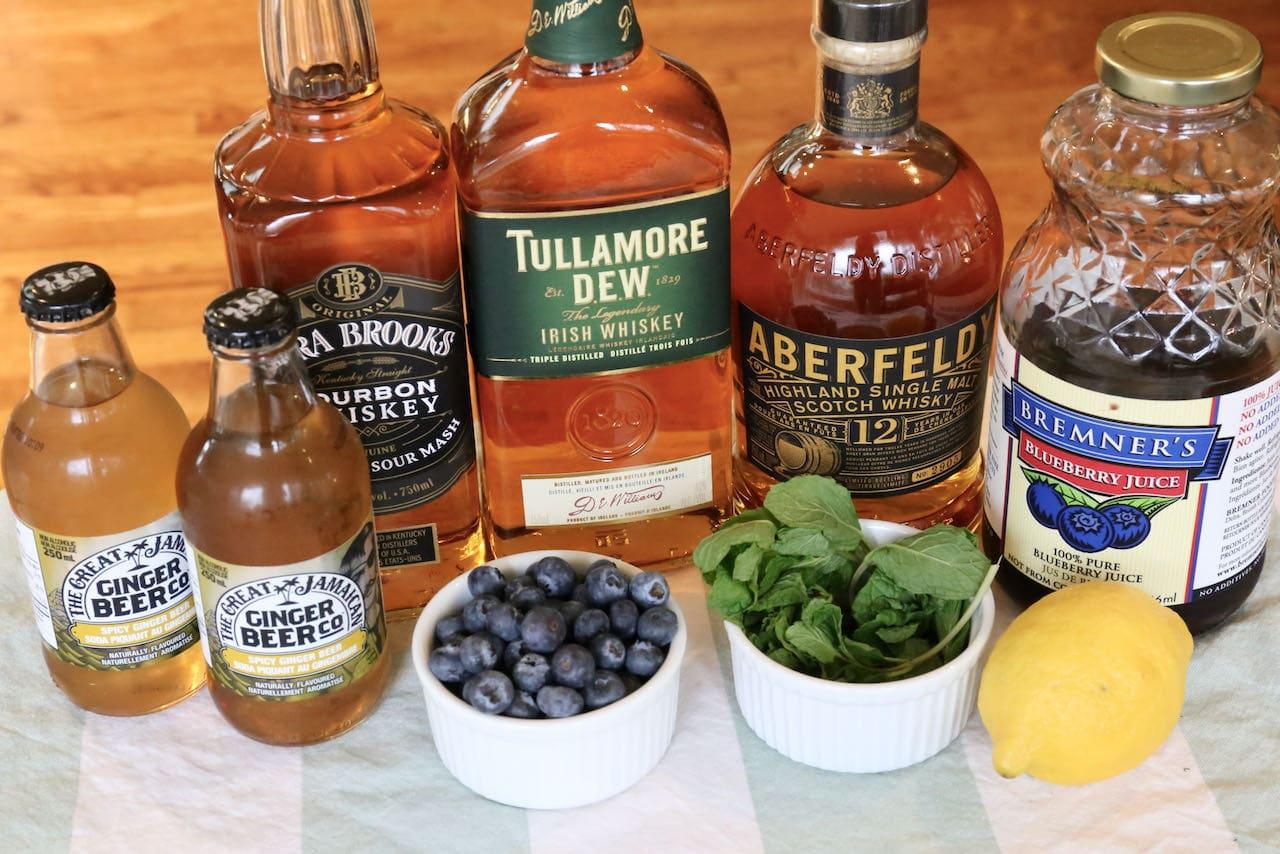 Homemade Blueberry Buck ingredients.