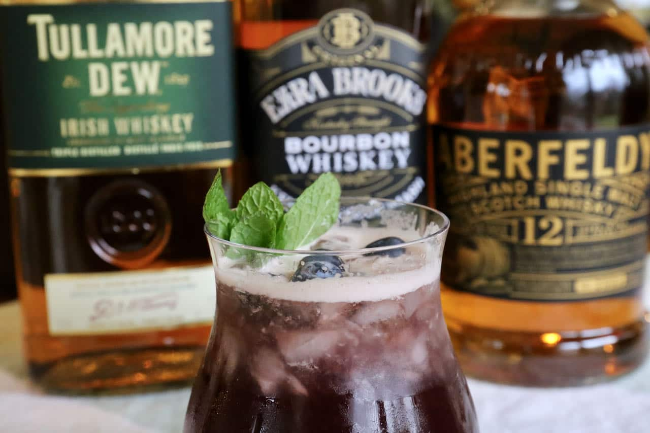 We love serving this Blueberry Buck cocktail during the summer when berries are in season.