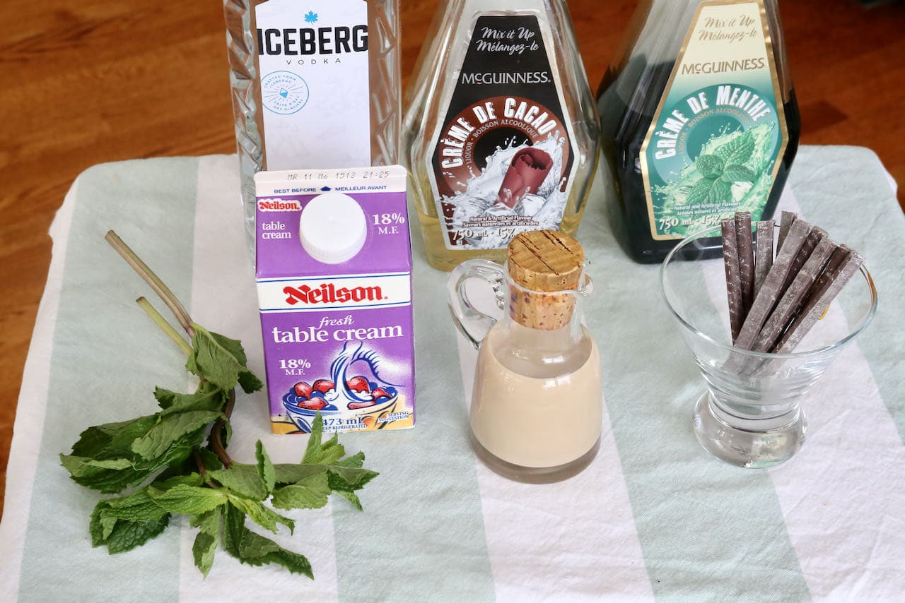 After Eight Cocktail ingredients.