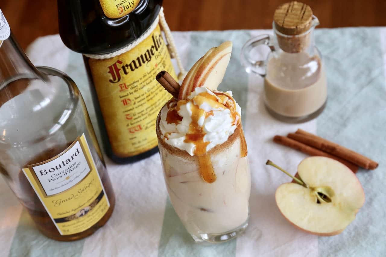 Wow guests at your next cocktail party by topping Baileys Apple Pie drinks with whipped cream and caramel sauce.
