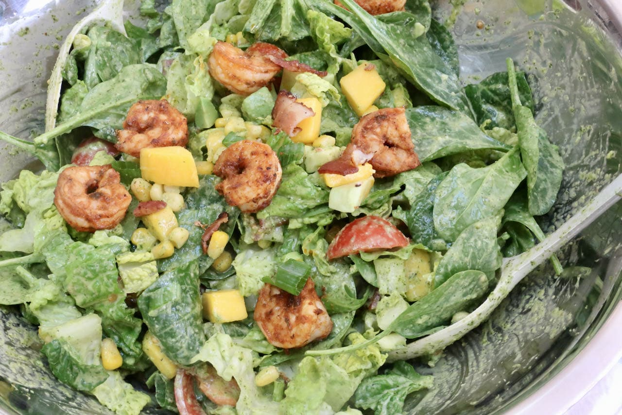 We love serving this healthy Cajun Shrimp Salad at family barbecues, potlucks and summer cottage dinners.