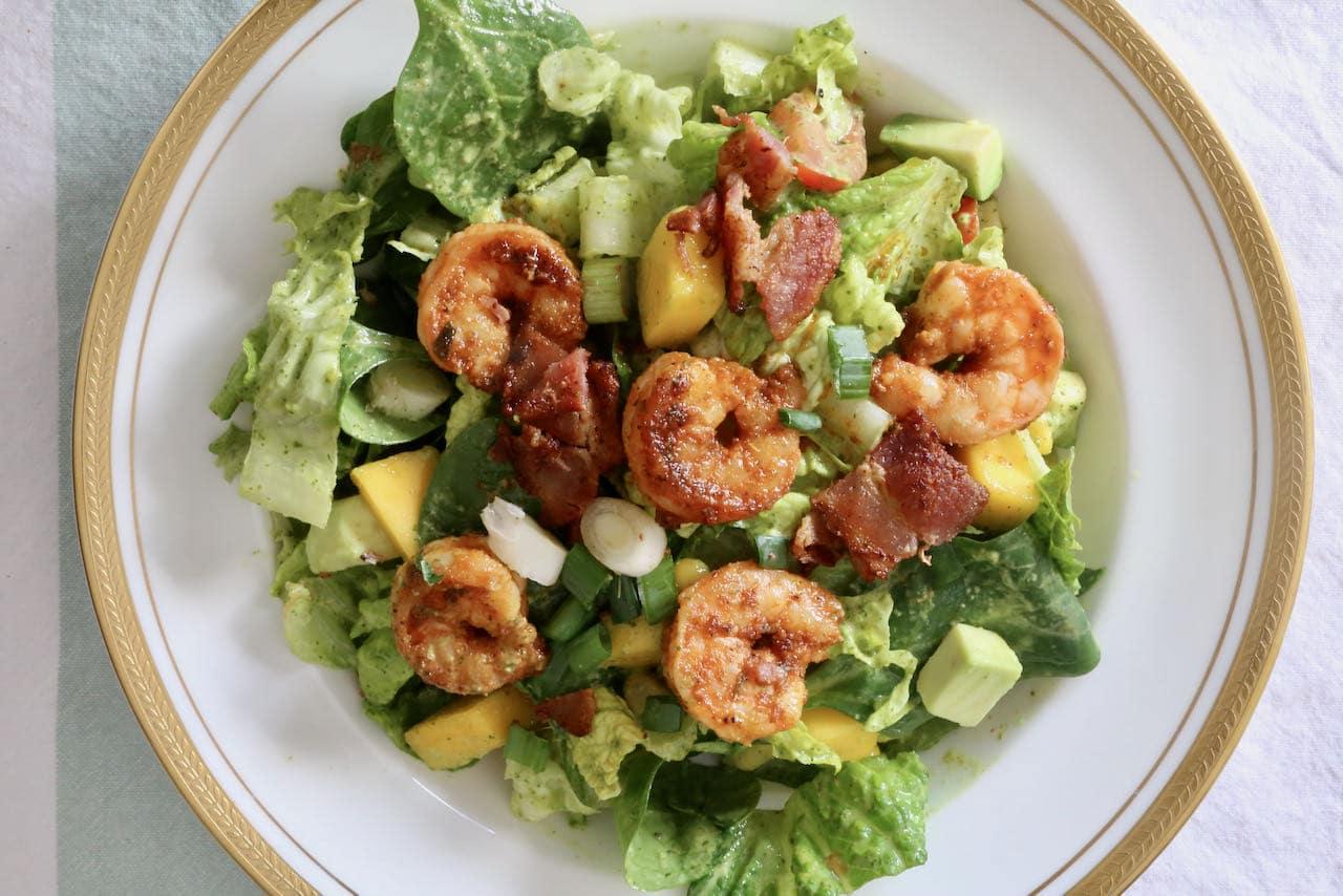 Cilantro Ginger Lime Cajun Shrimp Salad Recipe