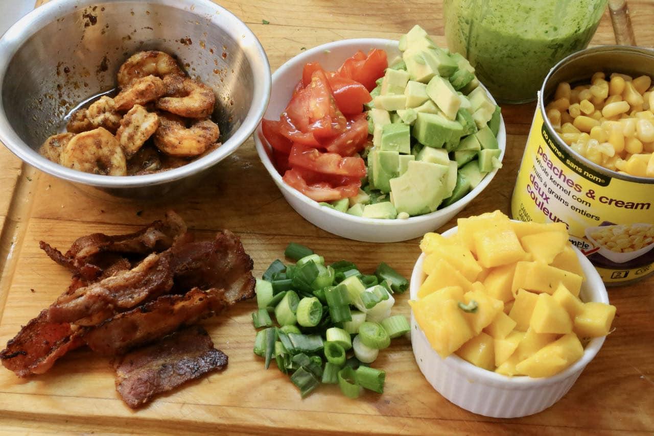 Assemble Cajun Shrimp Salad.