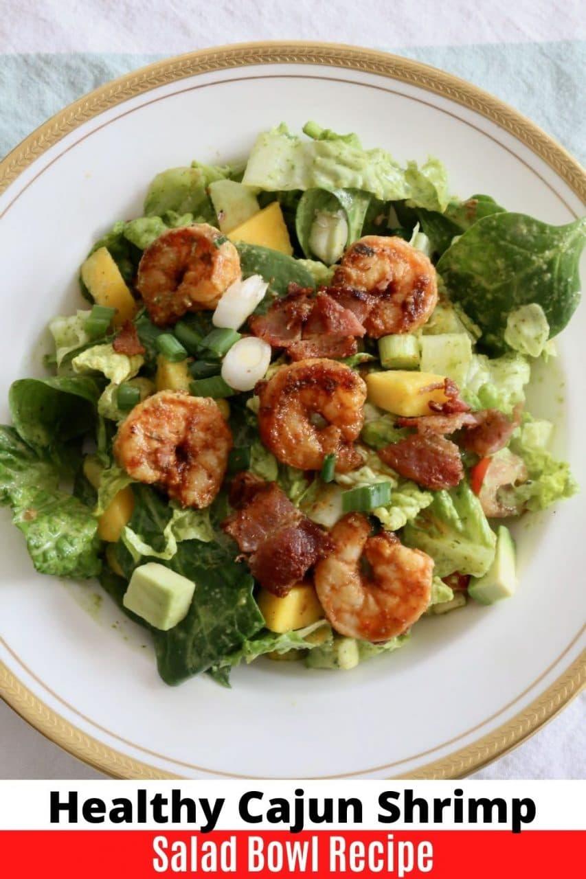 Save our Cajun Shrimp Salad recipe to Pinterest!