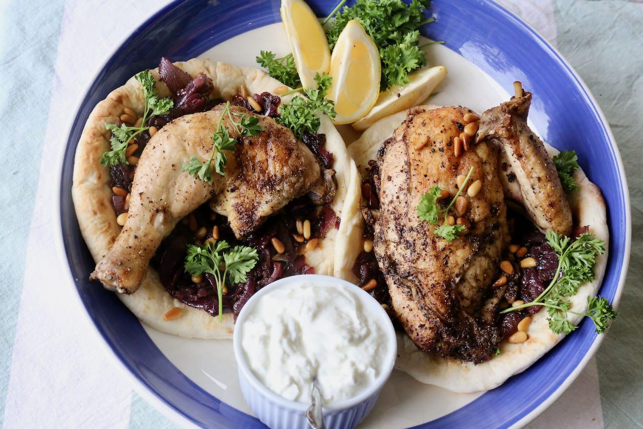 Palestinian Chicken Musakhan Recipe