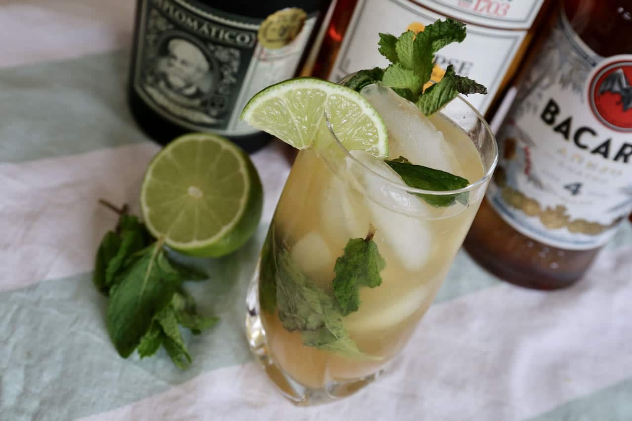 This Dark Rum Mojito recipe is perfect for Caribbean cocktail lovers.