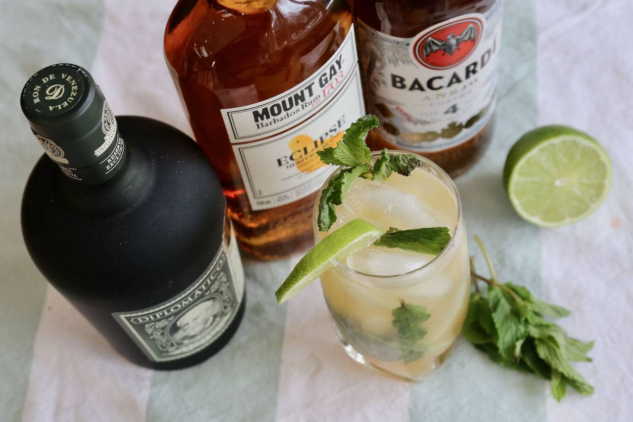 Our homemade Dark Rum Mojito is a refreshing drink to enjoy on a hot summer day.