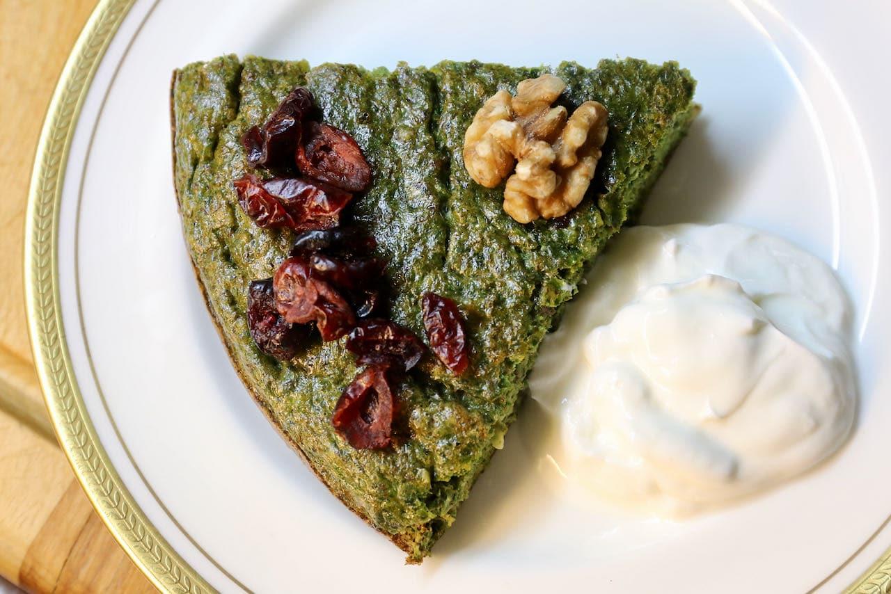Kookoo Sabzi Vegetarian Persian Omelet Recipe
